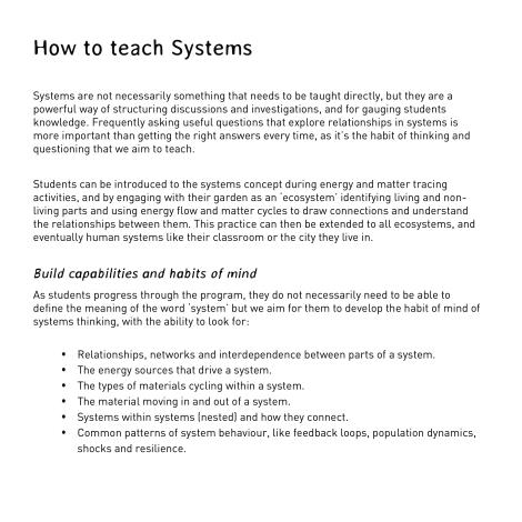 how to teach systems